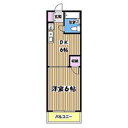 オーシャンハイツPART4[2階]の間取り