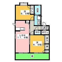 フォンターナ[1階]の間取り