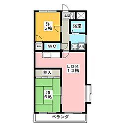 プチハピネス寺田[2階]の間取り