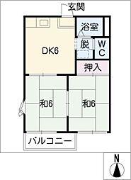 ベルモックII[2階]の間取り