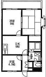 保土ヶ谷区今井町 伊沢コーポ[203号室]の間取り