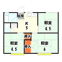 伊興アパート[2階]の間取り