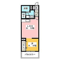 Branche平尾II[3階]の間取り