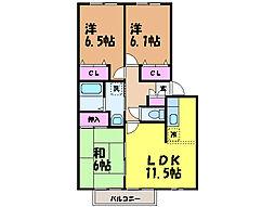 愛媛県松山市西石井4丁目の賃貸マンションの間取り