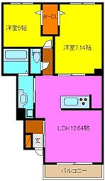 d−room若江南町[1階]の間取り