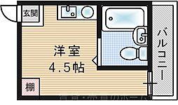 シティプラザ梅香[5階]の間取り