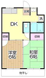 サンハイム瀬田[105号室]の間取り