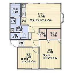ニューライフ関沢 A棟[202号室]の間取り