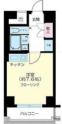 東京都荒川区西尾久7の賃貸マンションの間取り