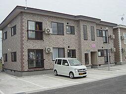 秋田県横手市安田原町の賃貸アパートの外観