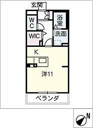 エクセルヤマナカII[2階]の間取り