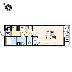 リブリ・京都嵐山 3階1Kの間取り
