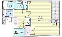 アルバス本庄東 3階1Kの間取り