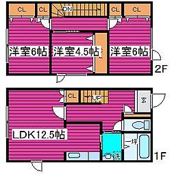 [タウンハウス] 北海道札幌市北区篠路八条2丁目 の賃貸【北海道 / 札幌市北区】の間取り