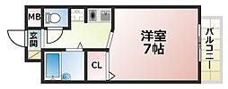 美野丘ハイツ[3階]の間取り