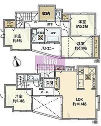 [一戸建] 神奈川県横浜市旭区善部町 の賃貸【/】の間取り