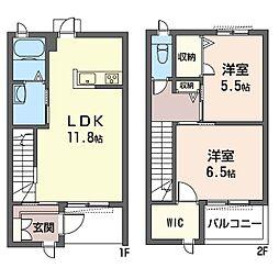 (仮)平塚市北金目3丁目シャーメゾンB[1階]の間取り