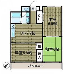 エントピアハウス[3階]の間取り