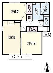 コンフォール II A[1階]の間取り