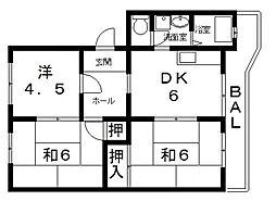 江尻マンション[302号室号室]の間取り
