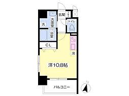 熊本市電A系統 河原町駅 徒歩9分の賃貸マンション 2階ワンルームの間取り