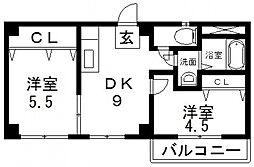 サンライフ小阪[608号室号室]の間取り