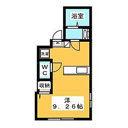北区豊島1丁目新築仮称 4階ワンルームの間取り