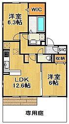 [テラスハウス] 千葉県流山市西初石5丁目 の賃貸【/】の間取り
