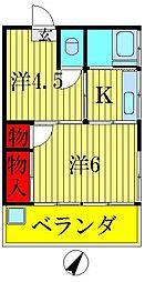 丸栄荘[2階]の間取り