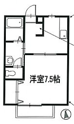 兵庫県たつの市龍野町堂本の賃貸アパートの間取り