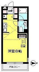 東京都調布市緑ケ丘2丁目の賃貸アパートの間取り