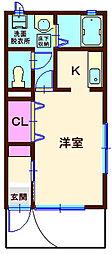 神奈川県横浜市神奈川区松本町1丁目の賃貸アパートの間取り