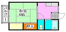 シティハウス[105号室]の間取り