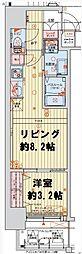 レオンコンフォート本町クレセント 7階1LDKの間取り