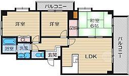 メゾン・ド・プレジール1[2階]の間取り