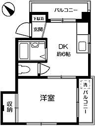 コーポ吉田[302号室]の間取り