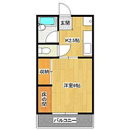 ヤワタハイツ[2階]の間取り