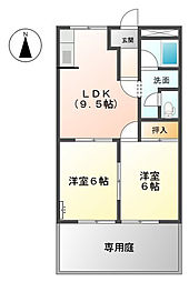 レジデンスTAKENAKA[1階]の間取り