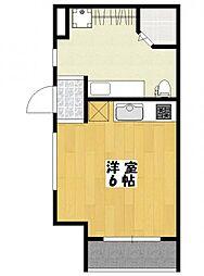 千葉県市川市高石神の賃貸アパートの間取り