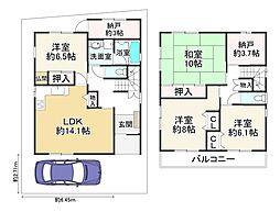 JR関西本線 平野駅 徒歩9分 4SLDKの間取り