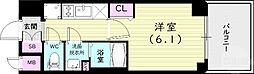 JR山陽本線 兵庫駅 徒歩12分の賃貸マンション 7階1Kの間取り