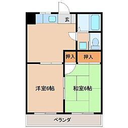 アキヨマンション[304号室]の間取り
