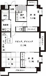 朝日プラザ赤坂優雅[2階]の間取り