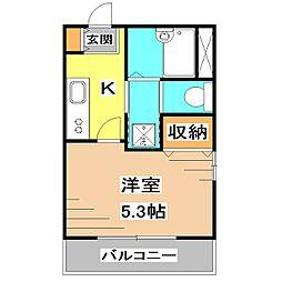 東京都西東京市ひばりが丘北3丁目の賃貸マンションの間取り