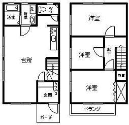 サニーハウス海咲[T-2号室]の間取り