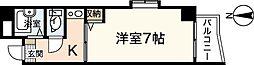 広島県広島市西区東観音町の賃貸マンションの間取り