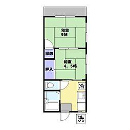 平和荘[1階]の間取り