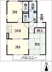 パインウエーブC棟[2階]の間取り