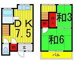 [テラスハウス] 東京都足立区六木4丁目 の賃貸【/】の間取り