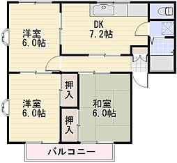 長野県長野市大字稲葉の賃貸アパートの間取り